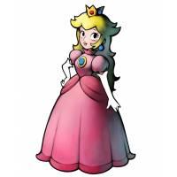 Disegno di Peach la Principessa  a colori