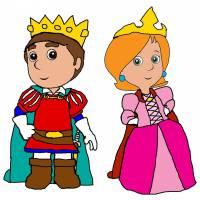 Disegno di Il Principe e la Principessa a colori
