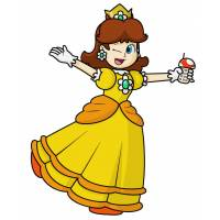 Disegno di Principessa Daisy a colori