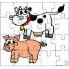 Disegno di Puzzle di Animali della Fattoria a colori