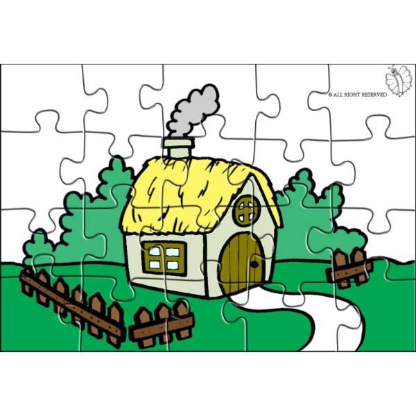 Disegno di Puzzle di Fattoria a colori