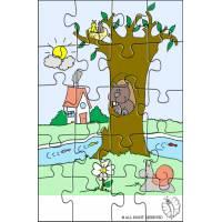 Disegno di Puzzle di Paesaggio Naturale a colori