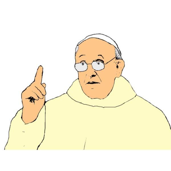 Disegno di Papa Francesco a colori