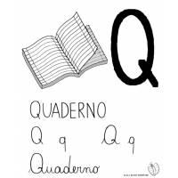 disegno di Lettera Q di Quaderno a colori