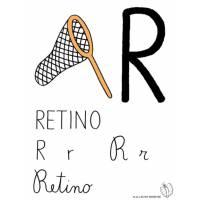 disegno di Lettera R di Retino a colori