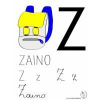 disegno di Lettera Z di Zaino a colori