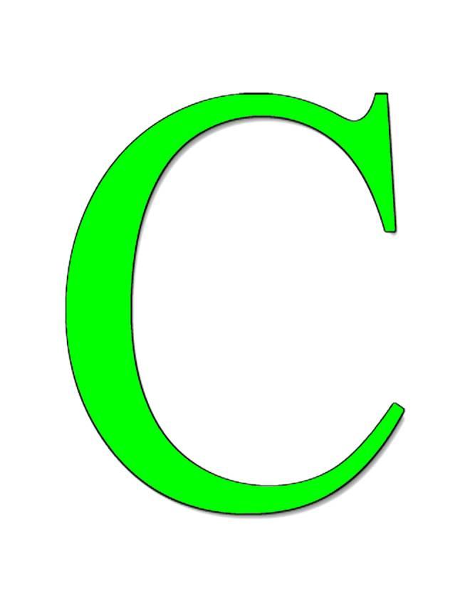 disegno di Lettera C a colori