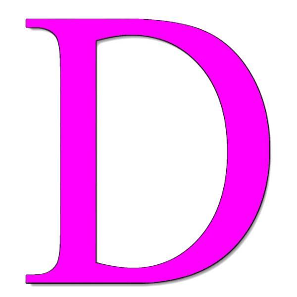 Disegno di Lettera D a colori