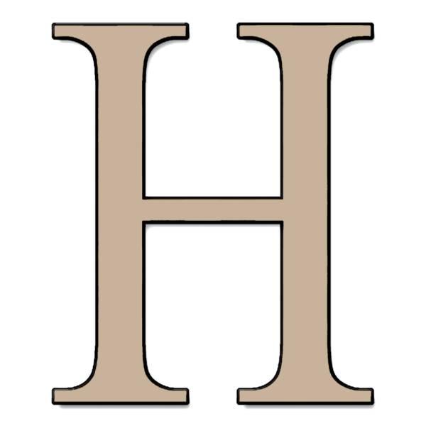 Disegno di Lettera H a colori