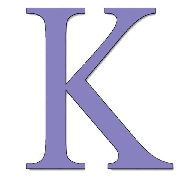 Disegno di Lettera K a colori
