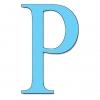 Disegno di Lettera P a colori