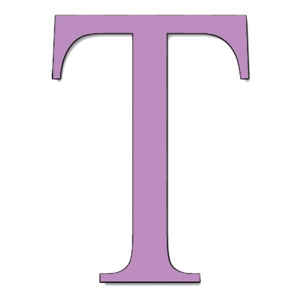 Disegno di Lettera T a colori