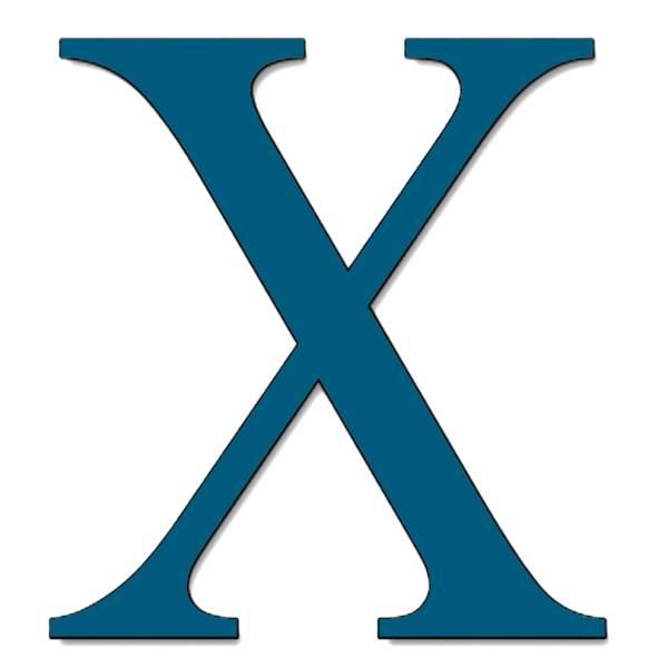 Disegno di Lettera X a colori