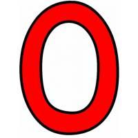 Disegno di Numero Zero a colori