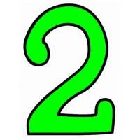 Disegno di Numero Due a colori