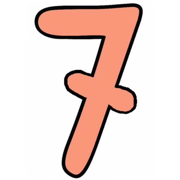 Disegno di Numero Sette a colori