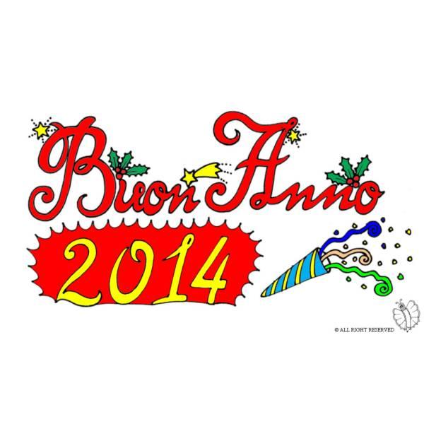Disegno di Buon Anno 2014 a colori
