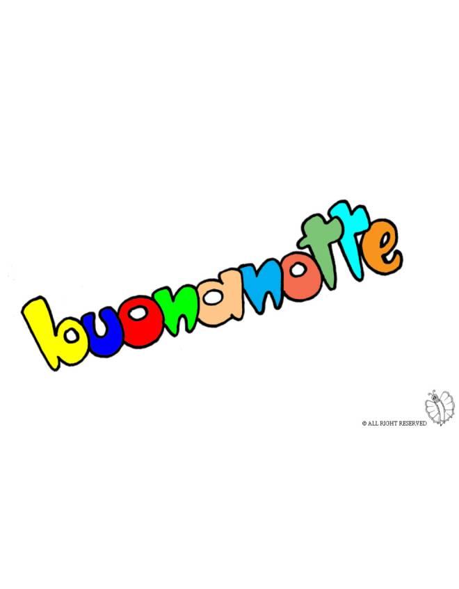 Disegno di buonanotte a colori per bambini for Buonanotte cartoni