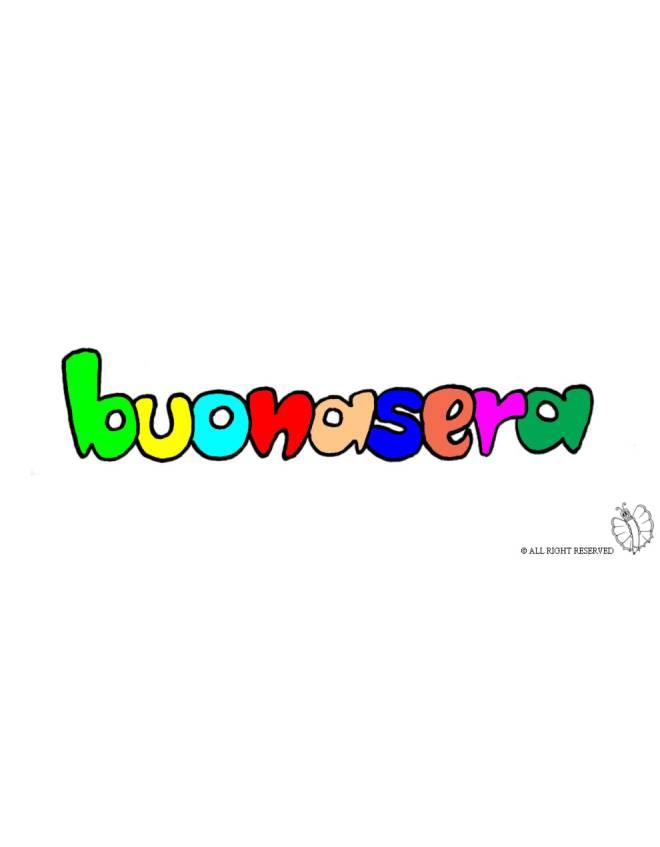 Disegno di buonasera a colori per bambini disegnidacolorareonline