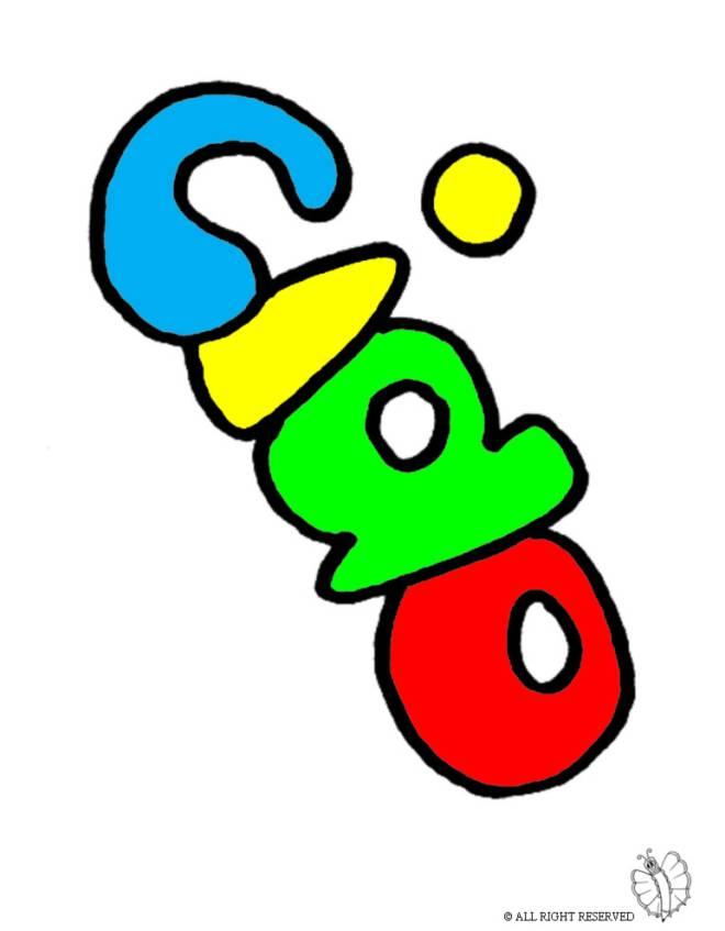 disegno di Ciao a colori