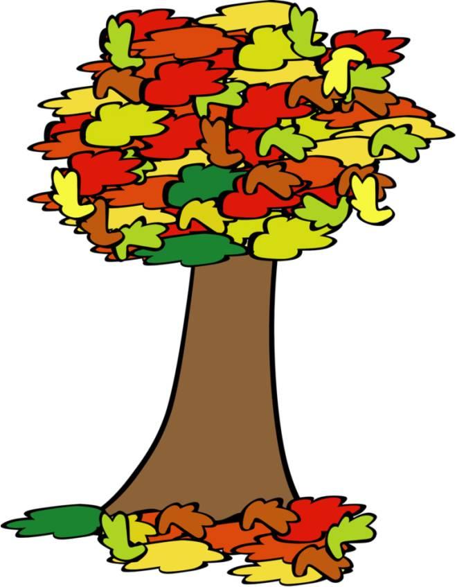 Disegno di albero d'autunno a colori