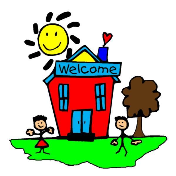 Disegno di Benvenuti a Scuola a colori