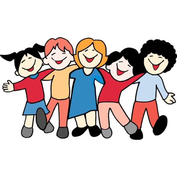 Disegno di bambini a scuola colori per
