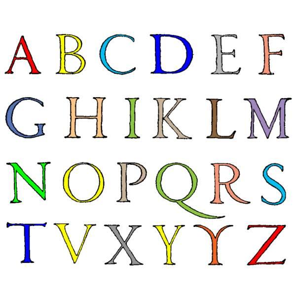 Disegno di lettere alfabeto a colori per bambini - Lettere animali da stampare ...