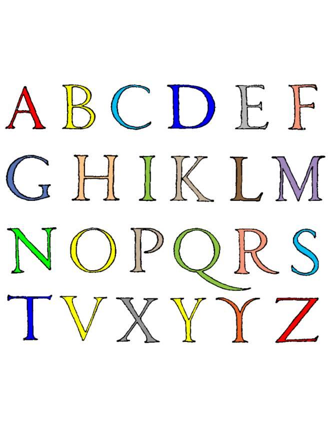 disegno di Lettere Alfabeto a colori