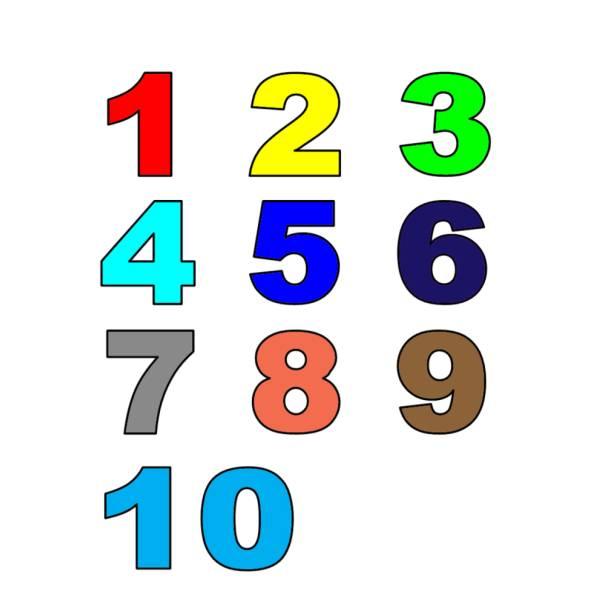 Disegno di numeri a colori per bambini - Colore per numeri per i bambini ...