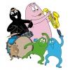 Disegno di Barbapapà e la Musica a colori