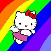 Disegno di Hello Kitty Angioletto a colori