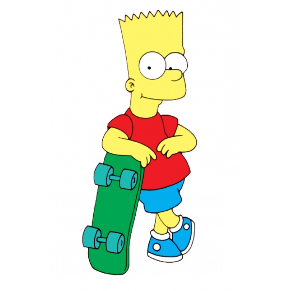 Disegno di Bart a colori