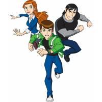 Disegno di Ben 10 con Gwen e Kevin a colori