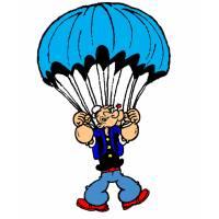 Disegno di Braccio di Ferro col Paracadute a colori