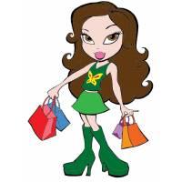 disegno di Bratz in Shopping a colori