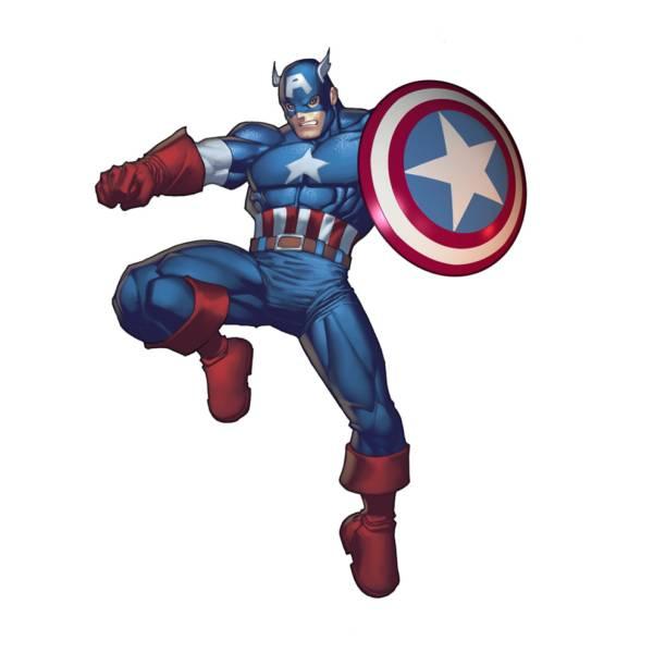 Disegno Di Captain America A Colori Per Bambini