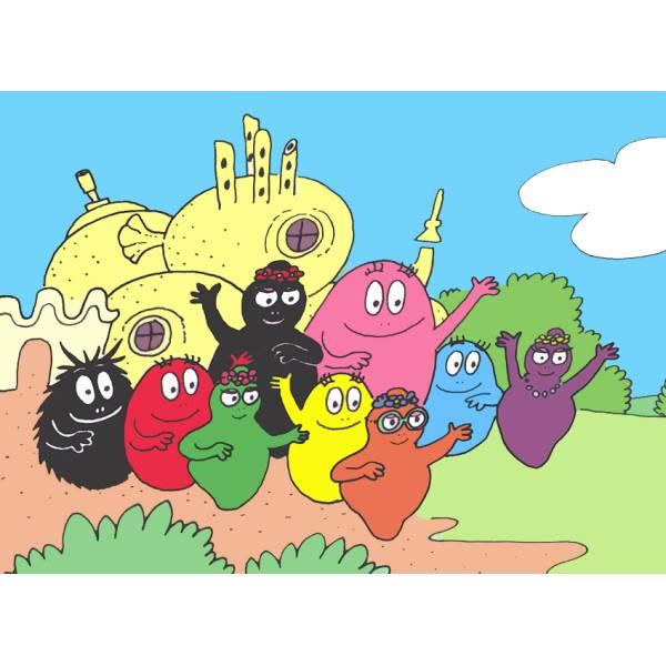 Disegno di barbapapà a colori per bambini