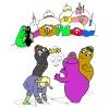disegno di Barbapapà con la Neve a colori