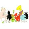 Disegno di Barbapapà Musica e Animali a colori