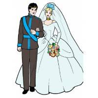 Disegno di Barbie e Ken Sposi a colori