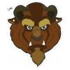 disegno di Maschera della Bestia da Ritagliare a colori