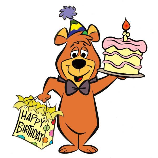 Disegno di bubu torta compleanno a colori per bambini
