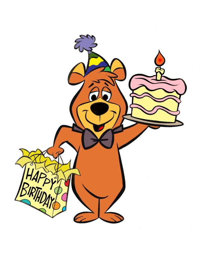 disegno di Bubu Torta di Compleanno a colori