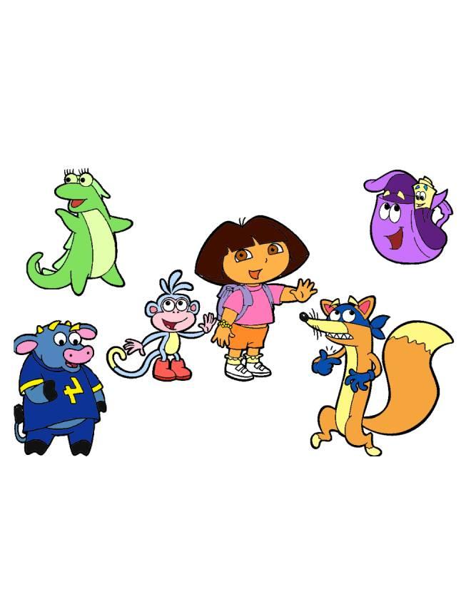 disegno di Dora e gli altri Personaggi a colori