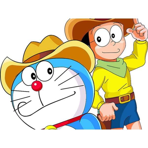 Disegno Di Doraemon E Nobita A Colori Per Bambini