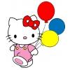 Disegno di Hello Kitty coi Palloncini a colori