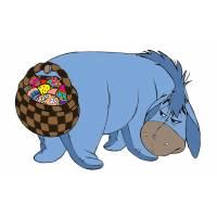 Disegno di Hi Ho e le Uova di Pasqua a colori