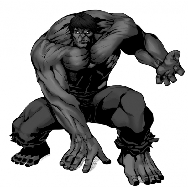 Disegno Di Incredibile Hulk A Colori Per Bambini