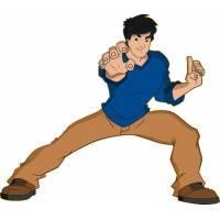 Disegno di Jackie Chan in Azione a colori